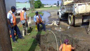 Men performing excavation